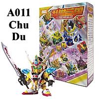 Mô hình trang trí sd A011 tướng Chu Du, đồ chơi lắp ráp sd/bb gundam tam quốc full box giá rẻ