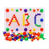 Đồ chơi - Bộ Ghép Hình Hạt Nấm Nhựa 50 Chi Tiết Cho Bé- Game  Phát Triển Trí Tuệ Sáng Tạo