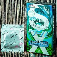 Bao Cao Su Sagami Spearment Tinh Chất Bạc Hà Tươi Mát, NEW, MADE IN JAPAN, Hàng Chính Hãng, Hộp 10 Cái
