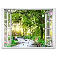 Tranh dán tường cửa sổ phong cảnh đẹp VT0422