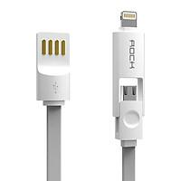 Cáp 2 in 1 Lightning + Micro USB ROCK 32cm- Hàng chính hãng
