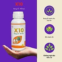 [Có sẵn] Phân bón sinh học X-10 500ml - Bung rễ mạnh, đẻ nhánh nhanh, nở bụi, hạ phèn, chống ngộ độc chuyên lúa