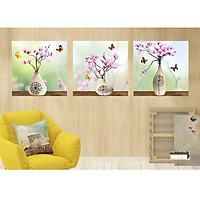 Tranh treo tường trang trí phòng khách hiện đại HH03/ gỗ nhập khẩu hàn quốc phủ melalin