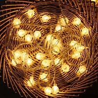 Đèn LED Bóng Tròn Pha Lê Bọt Khí Trang Trí Lễ Tết, Sinh Nhật, Nhà Cửa - Nhiều Kích Cỡ