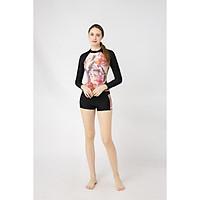 Đồ bơi Nữ BIKINI PASSPORT kiểu Hai mảnh áo tay dài, quần short phối họa tiết- màu Floral - BS375_FLO