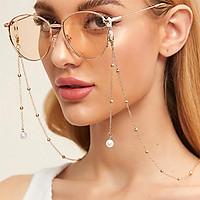 Fashion Woman Sunglasses Chain Pearl Pendant Anti-falling Glasses Eyeglass Cord Necklace