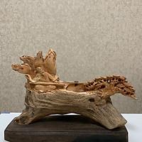 Tượng gỗ phong thủy Lão Tiều phu ( đốt được trầm hương)
