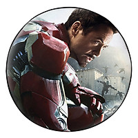 Gối Ôm Tròn In Hình Iron Man Quỳ Gối - GOFF286