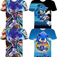 Áo Thun Tay Ngắn In Hình Sonic The Hedgehog 3d Cho Bé