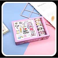 Băng dính họa tiết cute trang trí sổ, vở,... Combo Washi Tape xinh giá rẻ - Quà tặng dễ thương cho bạn bè, người thân