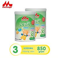 Combo 2 lon Sữa Morinaga số 3 Hương vani (Kodomil) 850g