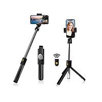 Gậy chụp hình 3 chân có bluetooth Selfiecom K10 chụp ảnh selfie tự sướng bằng remote, kẹp xoay 360 độ - Hàng chính hãng