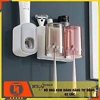 Bộ dụng cụ nhả kem đánh răng 02 cốc - HT SYS-COCO-E1924- Chất liệu ABS cao cấp