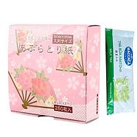 Set 250 Giấy Thấm Dầu Nhật Bản + Tặng Gói Trà Sữa Matcha Macca Cực Ngon