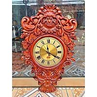 Đồng hồ hoa lá tây độc đáo gỗ hương  hàng đẹp