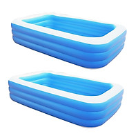 2   Pcs   Inflatable   Swimming   Pool   Outdoor   Family   Inflatable   Pool   for   Child   1 . 3Meter