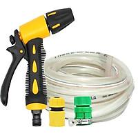 Vòi phun xịt rửa xe,tưới cây áp lực cao 319498-1 (cút nối vàng-dây trắng)