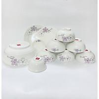 [HÀNG CAO CẤP] bộ đồ ăn bát đĩa tô gốm sứ 11 món,bộ tô chén,bộ bát đĩa gốm sứ cao cấp, nhiều hoa văn
