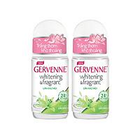 Combo 2 Lăn khử mùi Gervenne Trắng da Hương nước hoa Green Lily (50ml/chai)
