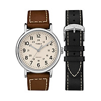 Đồng hồ Nam Timex Weekender 2-Piece Leather Strap Watch Gift Set - TWG019100 (40mm)