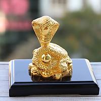 Tượng Rắn phong thủy mạ vàng