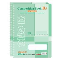 Lốc 2 Sổ Lò Xo Đơn Klong B5 - 5 Subjetc MS 376M (320 Trang)