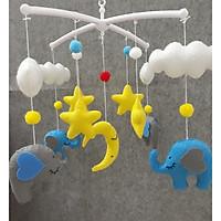 Treo nôi màu sắc hình voi kích thích thị giác cho bé