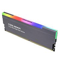 Tản Nhiệt  Led ARGB cho RAM máy tính - Coolmoon CR-D134S Gray - hàng nhập khẩu