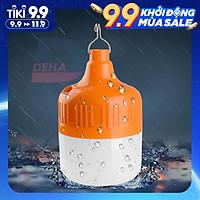 Bóng đèn Led sạc tích điện có móc treo, pin sạc dung lượng lớn, không cần dây điện, bulb chống nước, 50/100/150W chiếu sáng du lịch, cắm trại camping, quầy hàng, câu cá, sửa xe - Đèn sạc không dây chính hãng DEHA