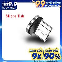 Dây cáp sạc nam châm xoay 360 Micro USB, Type C sạc nhanh không nóng máy tương thích nhiều điện thoại