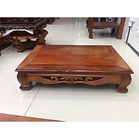 Bàn osin gỗ hương kích thước 45x70cm, mặt nguyên miếng không ghép, thích hợp làm bàn ăn, kê vật dụng