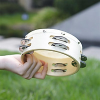 6Inch Double Tambourine Round Timbrel Hand Drum Children Puzzle Musical Instrument Toy Percussion Instrument