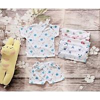 Sale- Combo 5 Bộ coton cho bé sơ sinh-quần áo mùa hè cho bé tra- bộ đồ cộc tay mùa hè cho trẻ sơ sinh