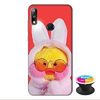 Ốp lưng cho điện thoại Asus Zenfone Max Pro M2 hình Vịt Bông Lalafanfan Mẫu 3 tặng kèm giá đỡ điện thoại iCase xinh xắn - Hàng chính hãng