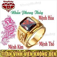 Nhẫn Phong Thủy Nam | Nhẫn Nam Phong Thủy Titan NMHOA, NMKIM, NMTHO