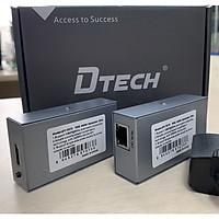 Bộ kéo dài hdmi 50M qua dây mạng DTECH DT-7073 (2 thiết bị) - Hàng Chính Hãng