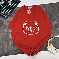 áo thun i love you bear phom rộng chất cotton