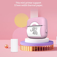 Mini Pocket Photo Printer Portable Thermal Printing Machine 203DPI Wireless BT Connection for Picture Lable DIY