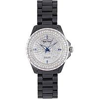 Đồng hồ nữ chính hãng Royal Crown 3821 dây đá Ceramic đen mặt full đá