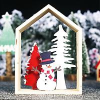 Khung Gỗ Để Bàn Trang Trí Giáng Sinh Siêu Dễ Thương