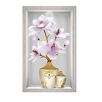 Decal dán tường ô tường lọ hoa đẹp LoHoaDon_017