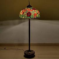 Đèn sàn trang trí Tiffany Poppy Flower chao 66cm - theo phiên bản gốc