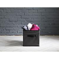 Hộp vải đựng đồ đa năng - Xám viền đen - HV6009