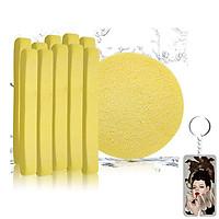 Bông Bọt Biển Rửa Mặt Cao Cấp Mira 6 miếng /gói tặng kèm móc khóa