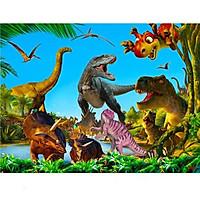 Tranh ghép gỗ 80 mảnh - Công viên khủng long 1 - Jurassic Park 1