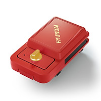 HYUNDAI Sandwich Maker/Breakfast Maker/Electric Baking Pan QC-KP6216 Double-sided frying timing knob anti-sticking