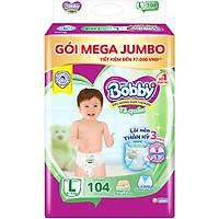 Tã quần Bobby Mega Jumbo L104 - Lõi nén thần kì 3mm - Siêu mỏng khô thoáng bất ngờ