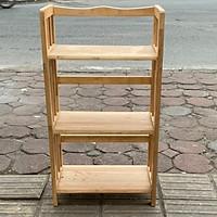 Giá Sách 50cm - 3 tầng gỗ cao su