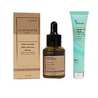 Tinh chất hỗ trợ  trị mụn hiệu quả 99%, kiểm soát dầu, hỗ trợ  điều trị mụn bọc, mụn nội tiết, mụn cám. mụn liti, mụn đầu đen Anti acne Dr. Lacir- Tặng Sữa Rửa Mặt Kiềm Dầu dành cho Da mụn Dr Laciri