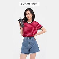 Áo thun nữ GUMAC ATB809 sọc ngang form dáng basic năng động, nhiều màu cá tính